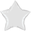 "20"" White Star Qualatex (5ct) (SKU: 12643)"
