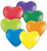 "6"" Heart  Carnival Assortment (100 count) Qualatex (SKU: 13763)"