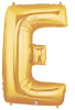 "LETTER ""E"" 40""  GOLD MEGALOON (1 PK) POLYBAG (SKU: 15905GB)"