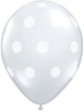 "16"" Diamond Clear Big Polka Dots (50 ct)"
