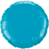 "18"" Round Turquoise Qualatex Microfoil (5 ct.) (SKU: 30749)"