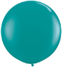 3' Round Jewel Teal (2 count) Qualatex  (SKU: 43458)