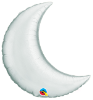 "9"" Crescent Moon - Silver/Air Fill (5 ct.) (SKU: 42123)"