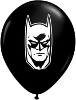 "5"" Round Batman Face -  Black (100 count) (SKU: 55502)"