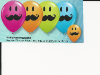 "5"" Round Smile Face Mustache Ast. (100 count) (SKU: 60933)"