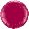 "18""  Round Burgundy Qualatex Microfoil (5 ct.) (SKU: 74917)"