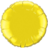 "18"" Round Citrine Yellow Qualatex Microfoil (5 ct.) (SKU: 22637)"