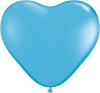 "6"" Heart Pale Blue (100 count) Qualatex (SKU: 60189)"