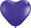 "6"" Heart Quartz Purple (100 count) Qualatex (SKU: 43643)"