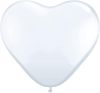 "6"" Heart White (100 count) Qualatex (SKU: 43651)"
