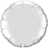 "18"" Round Silver Qualatex Microfoil (5 ct.) (SKU: 23145)"