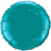 "18"" Round Teal  Qualatex Microfoil (5 ct.) (SKU: 32554)"