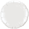 "18"" Round White Qualatex Microfoil (5 ct.) (SKU: 12921)"